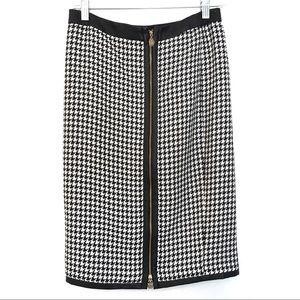[ANNE KLEIN] NEW W/O TAG Houndstooth Midi Skirt 0